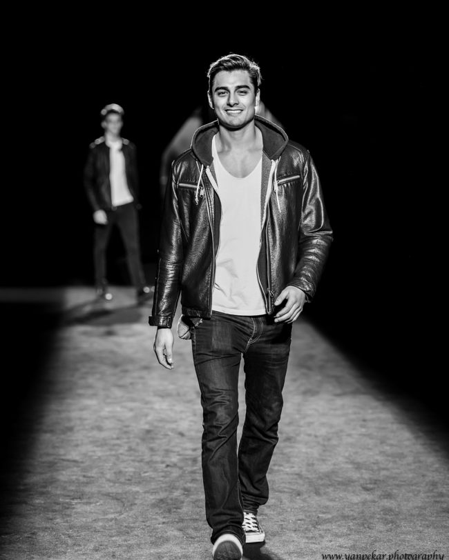 Lucas Choque representing Bolivia at Fresh Faces World Final - Barcelona Fashion Week