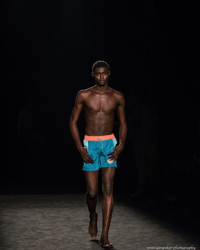 Benjamin Onaji - Isis Model Management Africa at Fresh Faces World Final Barcelona Fashion Week